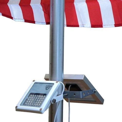 ALPHA 180X Solar Flagpole Light review
