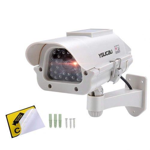 YSUCAU Solar Powered CCTV Security Fake Dummy Camera review