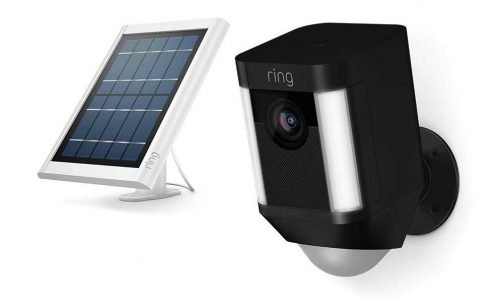 ring spotlight cam and solar panel review