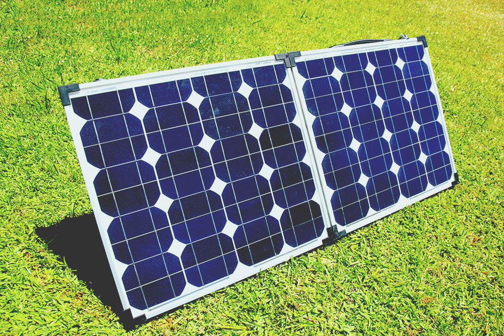 A set of portable solar panels used for camping best portable solar panels