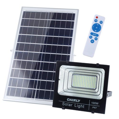 CHINLY 100W Solar Powered Flood Lights review
