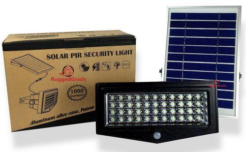 RuggedGrade High Power 1000 Lumen Solar Motion LED Flood Light review