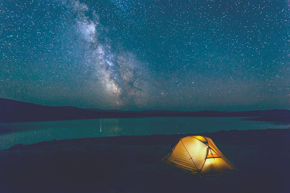 Tent with solar light on inside with starry sky how to charge solar without sun