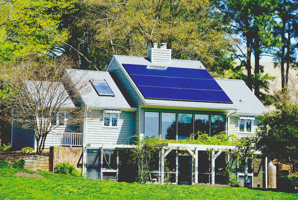 large home run by solar panels