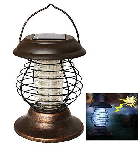 AGPtek Indoor Outdoor Wireless Solar Power Mosquito Killer UV Lamp