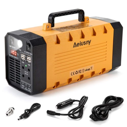Aeiusny Portable Solar Generator flashlight
