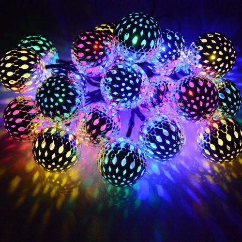 Dephen Solar String Lights Moroccan Ball Multicolor