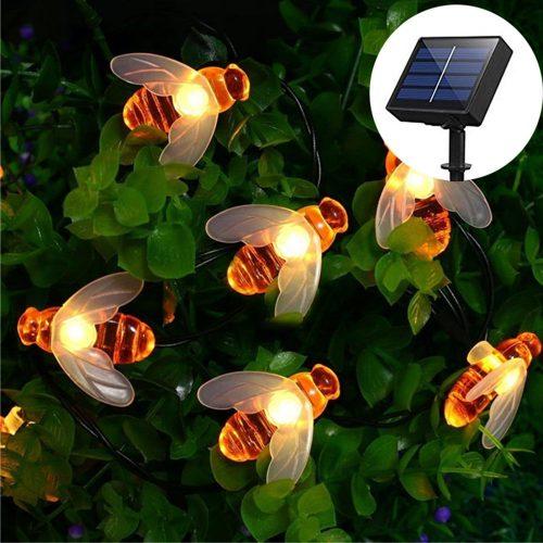 SKYFIRE Solar Powered Honey Bee String Lights