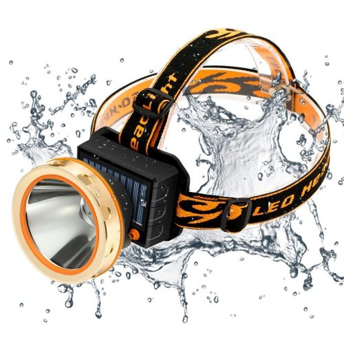 Solar Rechargeable LED Headlamp with Power Bank SGODDE