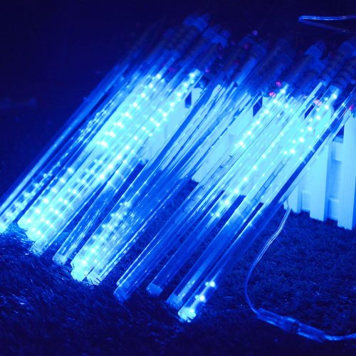 Vmanoo LED Outdoor Lights 8 Tube Meteor Shower Rain Lights Solar Powered Icicle review
