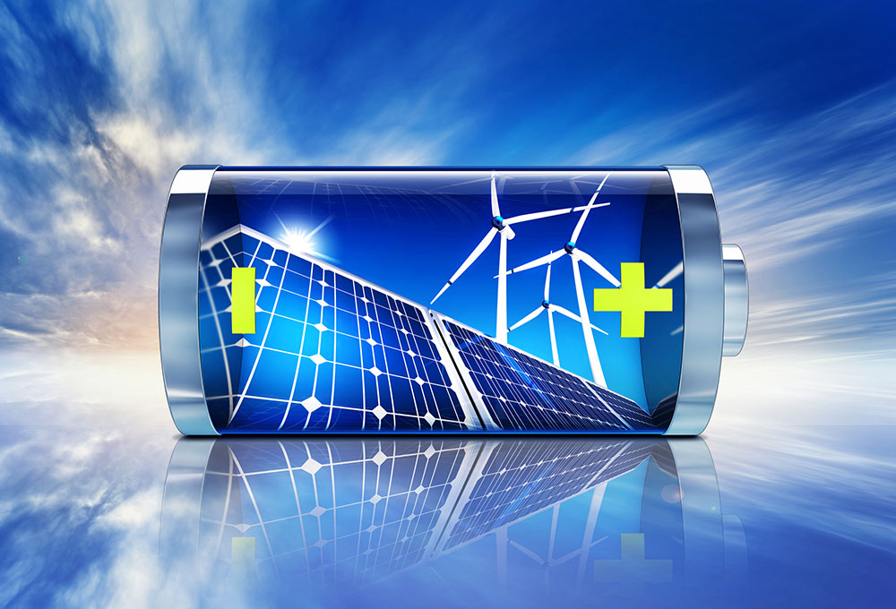 high res rendering of battery with solar and wind diy solar generator