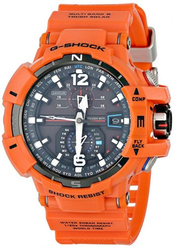 Casio G-Shock Unisex Atomic Solar GWA1100 Orange Watch