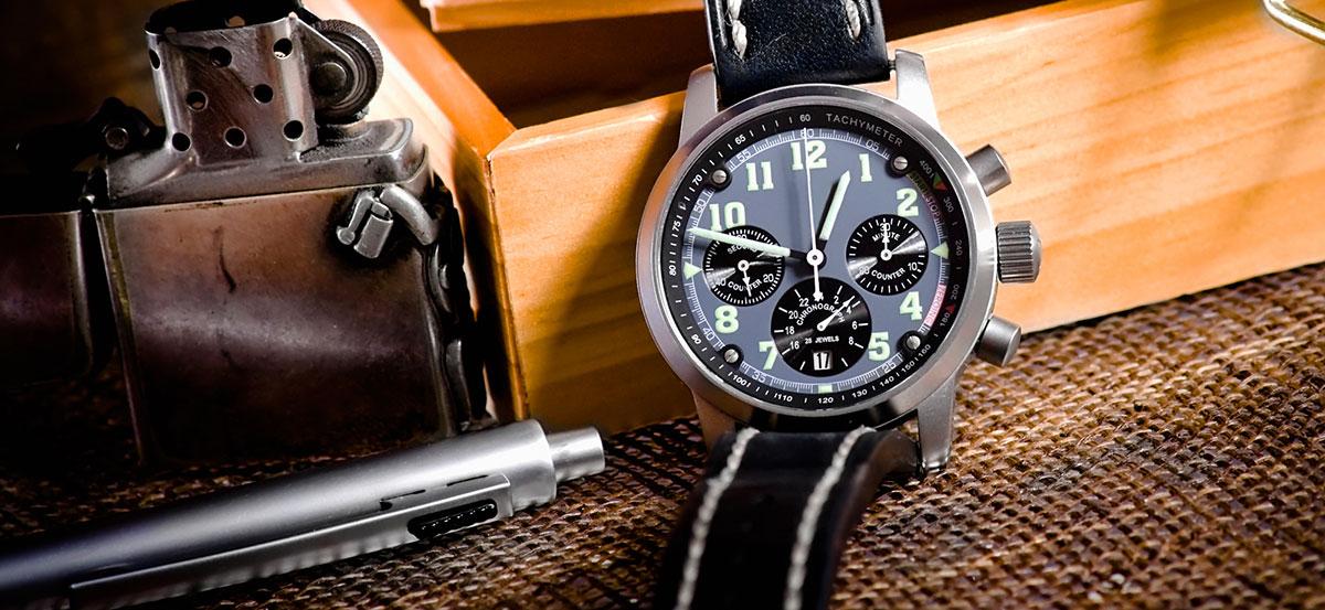 atomic solar watch at rest