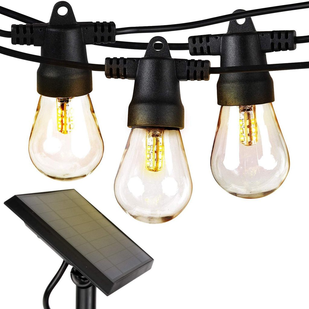 brightech edison style solar string lights