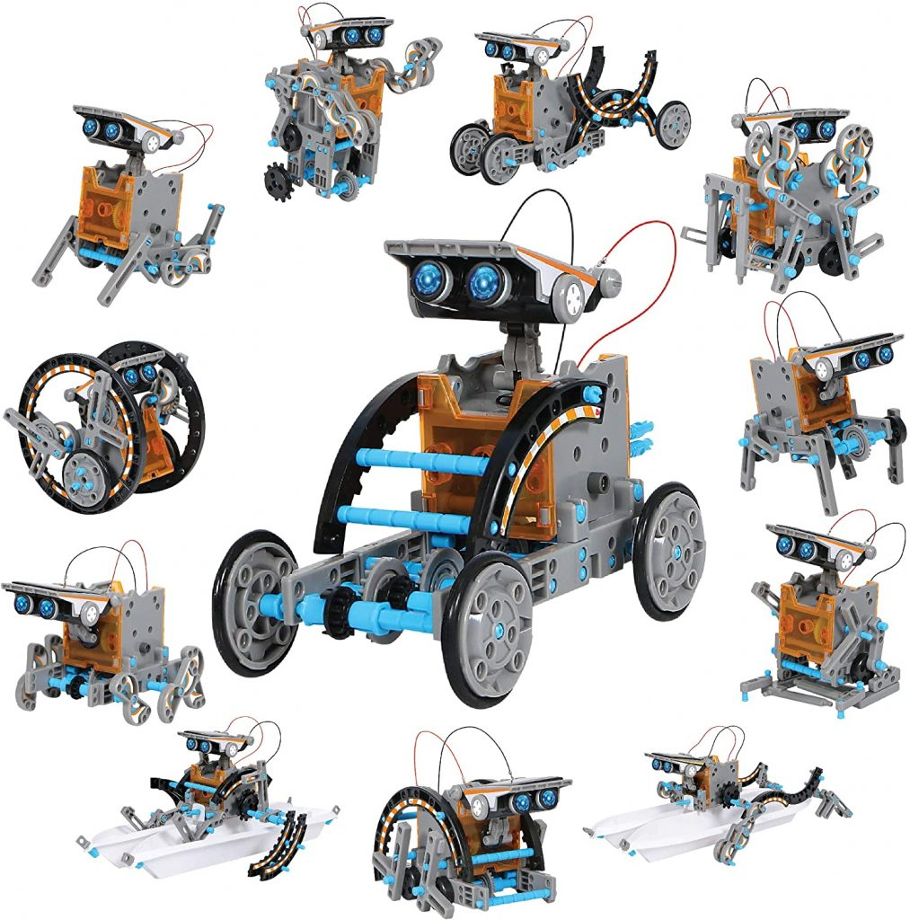 Discovery Kids Mindblown STEM 12-in-1 Solar Robot Creation